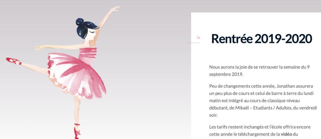 nouveau site chore danse